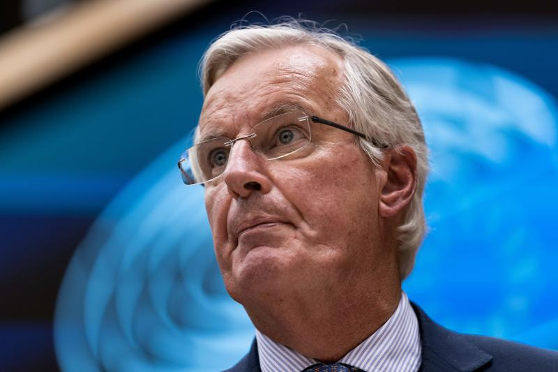 European Union chief Brexit negotiator Michel Barnier delivers a speech during a plenary session at European Parliament in Brussels on October 9, 2019. (Photo by Kenzo TRIBOUILLARD / AFP) (Photo by KENZO TRIBOUILLARD/AFP via Getty Images)