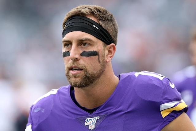 Adam Thielen seems fed up with Kirk Cousins. (Getty)