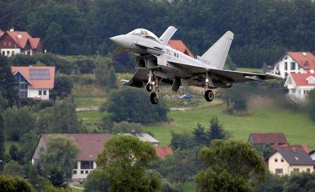 FILE PHOTO: The first Austrian Eurofighter Typhoon lands on the military airport in Zeltweg