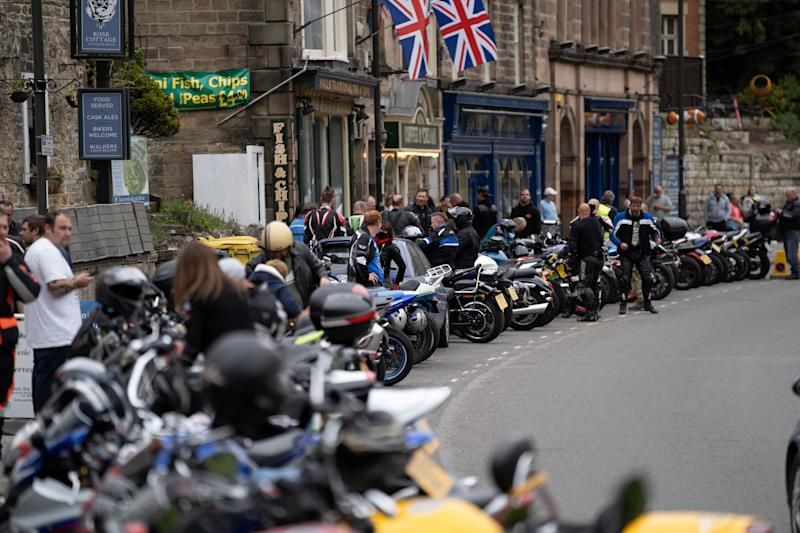 Hundreds of visitors turn up in the tiny village of Matlock Bath, Derbyshire. (SWNS)