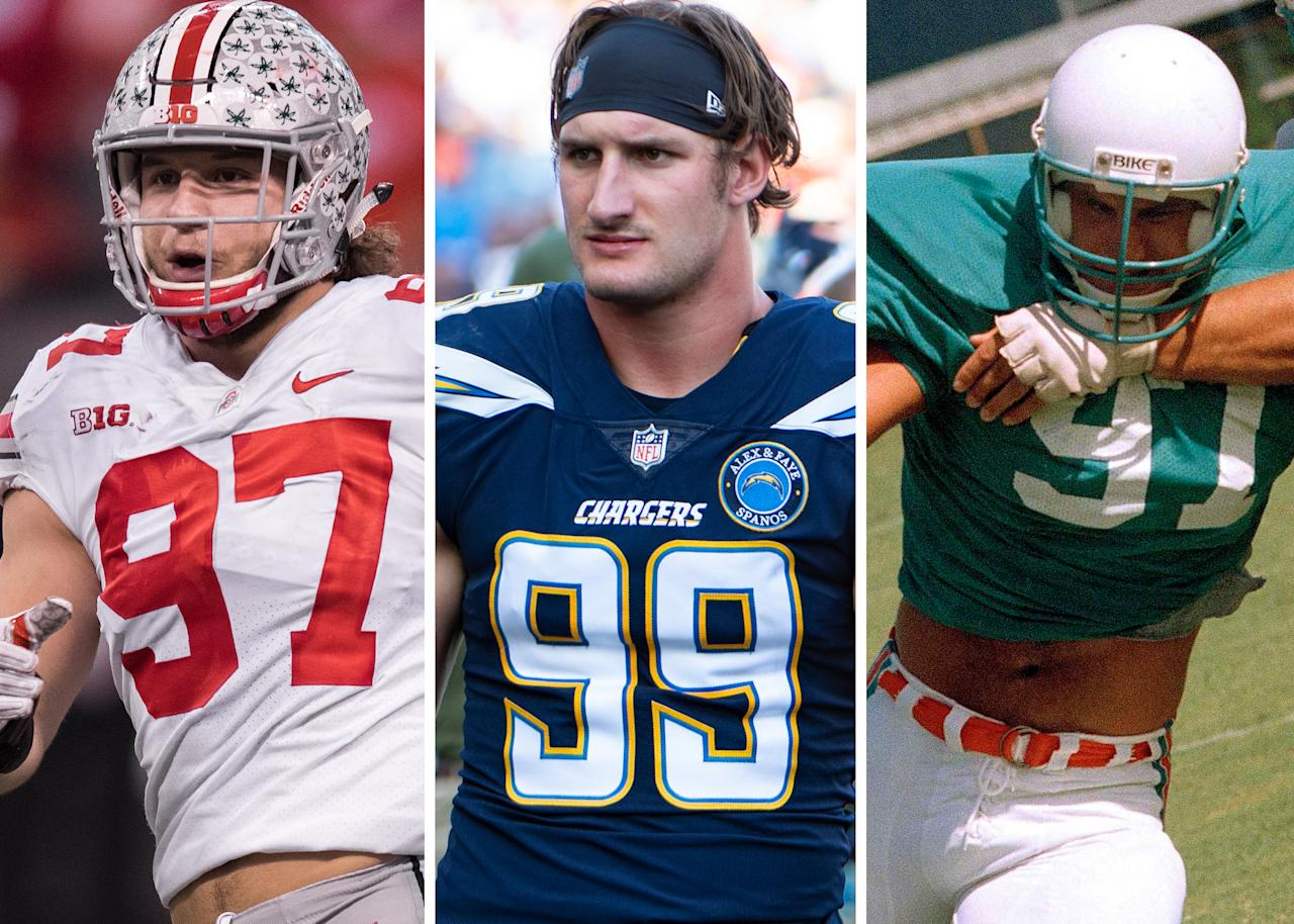 The game is strong in the Bosa family. Father John Bosa was a defensive end for the Miami Dolphins in the late 1980s, while Nick's brother Joey was a first round pick for the San Diego Chargers in 2016.