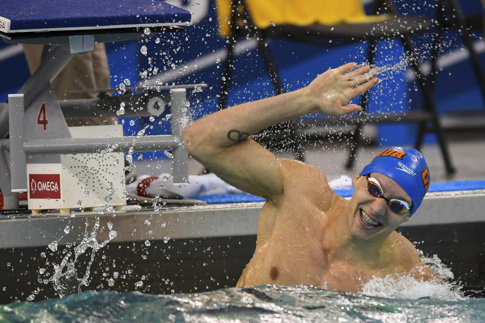 Come 2020 in Tokyo, Caeleb Dressel could potentially challenge Michael Phelps' record eight gold medals in a single Olympic Games. (AP)