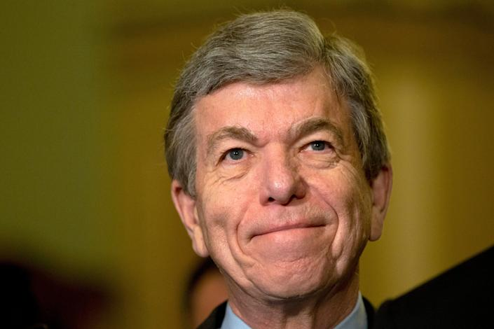Sen. Roy Blunt, R-Mo., at a news conference on Capitol Hill on May 17, 2016.