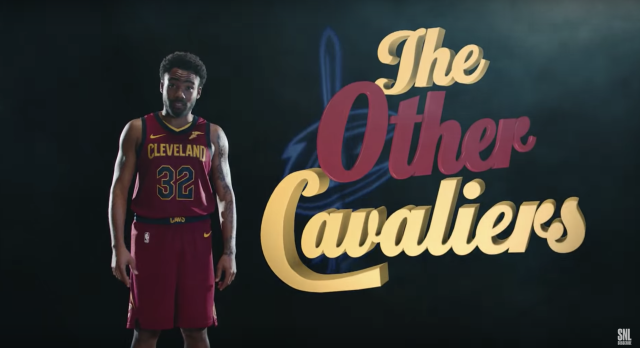 """The Other Cavaliers,"" or every other player not named <a class=""link rapid-noclick-resp"" href=""/nba/players/3704/"" data-ylk=""slk:LeBron James"">LeBron James</a> (Saturday Night Live/YouTube)."