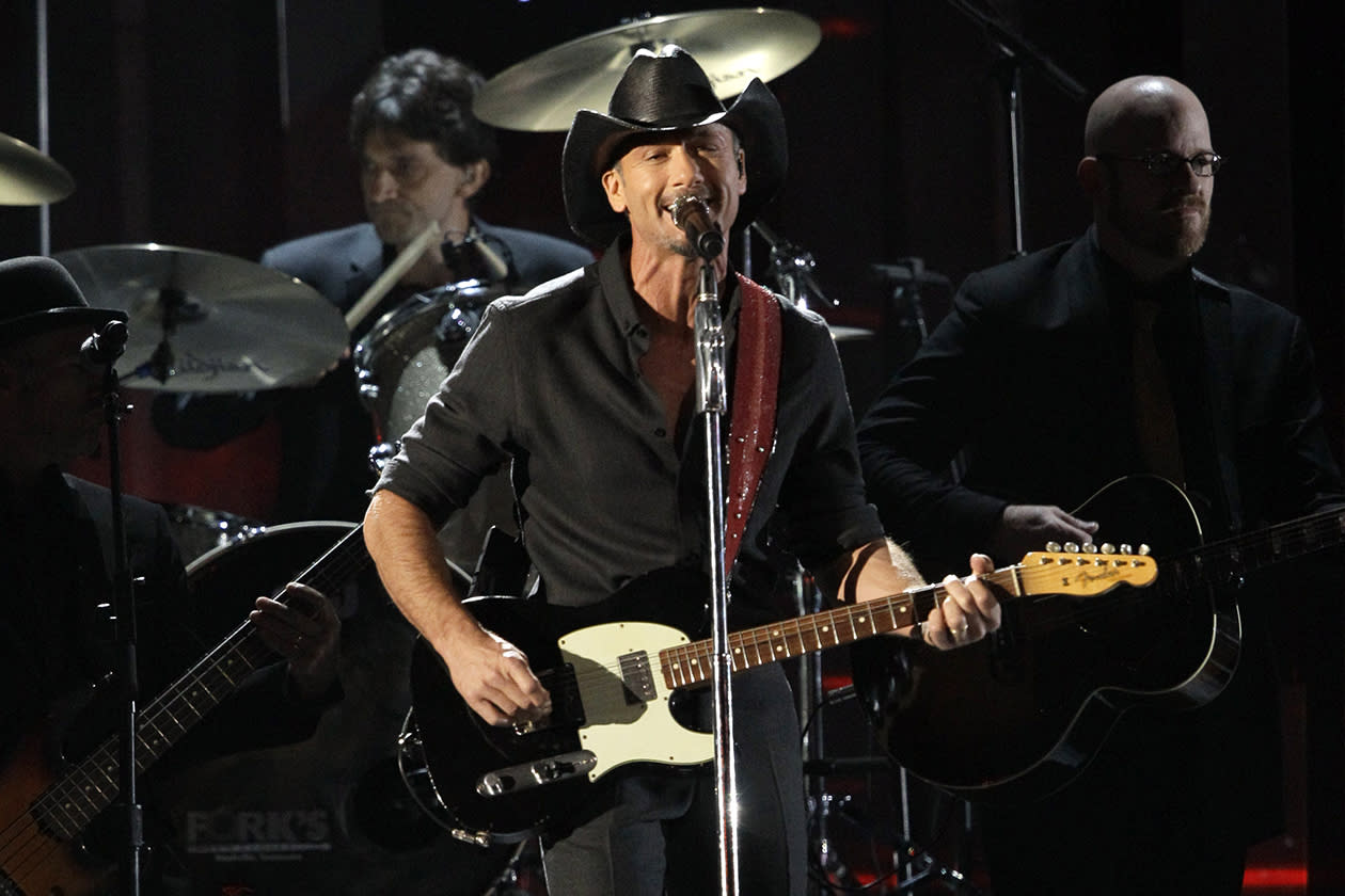 <b>7. Tim McGraw - $18,329,167.89</b><br><br>Tim McGraw performs at the 46th Annual Country Music Awards at the Bridgestone Arena in Nashville, Tenn.