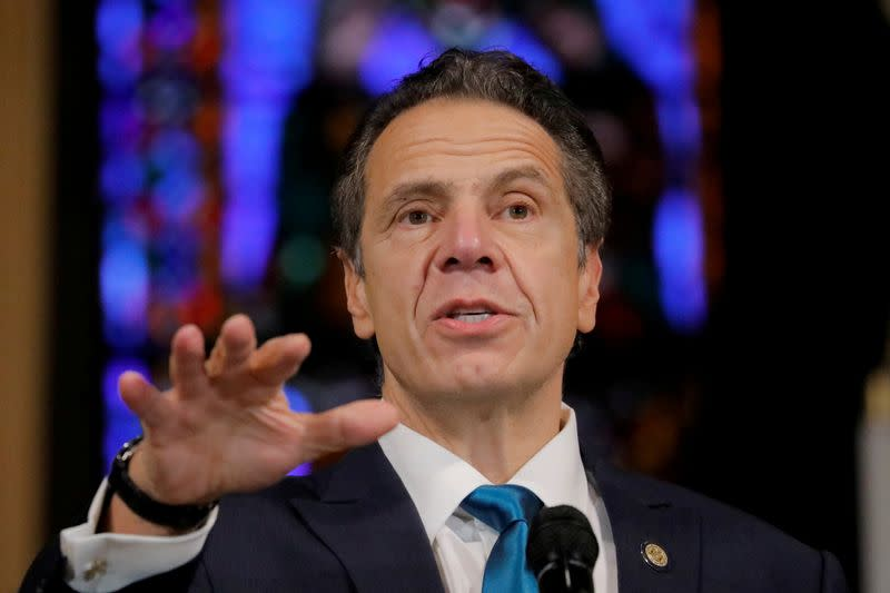 FILE PHOTO: New York Governor Andrew Cuomo delivers remarks on the coronavirus disease