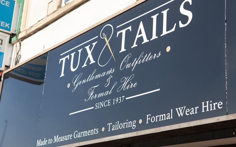 Tux and Tails - one of the shops targetted by Bristol's grammar vigilante - Credit: SWNS