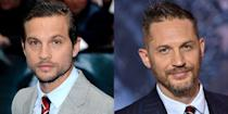 <p>It's not just the scruffy beards that make Logan Marshall-Green and Tom Hardy look identical. The actors have the same lips, eyes, and smile, too.</p>