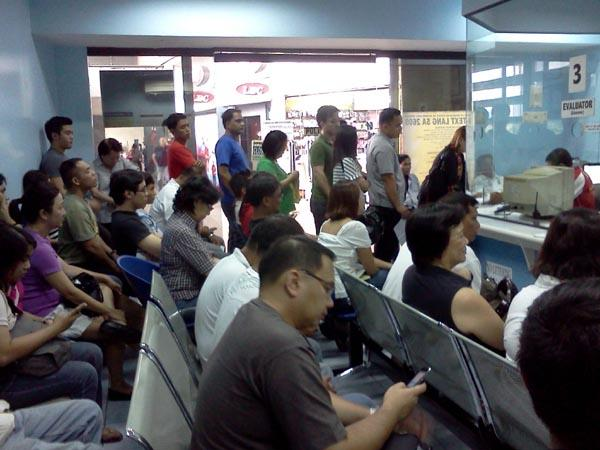 Drivers waiting for their driver's license