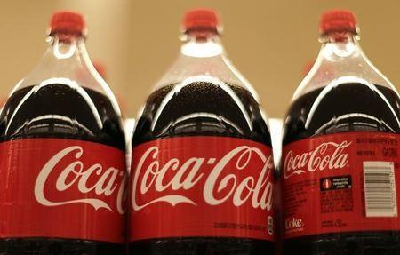 Bottles of Coca-Cola are seen at the Safeway store in Wheaton, Maryland February 13, 2015. REUTERS/Gary Cameron