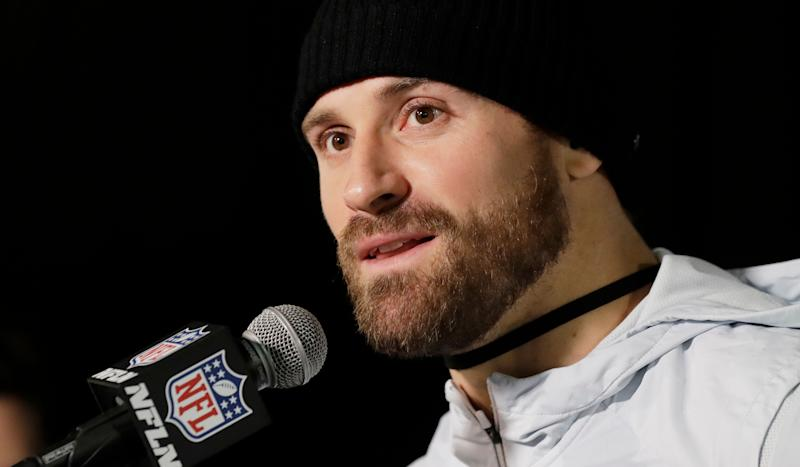 Chris Long said he used marijuana during his NFL career, and thinks it's time for the league to let players use it without penalty. (AP)