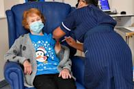 <p>On December 8, British pensioner Margaret Keenan became the fist person in the world to receive a Coronavirus vaccine. After the UK approved the Pfizer vaccine, Keenan received it from an NHS nurse at a Coventry hospital.</p><p>Since then, more vaccines have been improved and there has been a mass vaccination programme in the UK rolled out. At the start of February, the BBC reported that more than 1 in 6 UK adults has now received a Covid vaccine.</p>