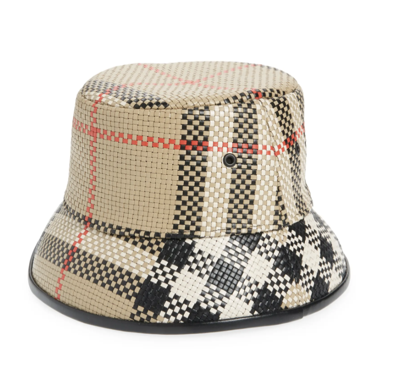 """<p><strong>Burberry</strong></p><p>Nordstrom</p><p><strong>$436.00</strong></p><p><a href=""""https://go.redirectingat.com?id=74968X1596630&url=https%3A%2F%2Fwww.nordstrom.com%2Fs%2Fburberry-check-woven-leather-bucket-hat%2F5776939&sref=https%3A%2F%2Fwww.elle.com%2Ffashion%2Fshopping%2Fg37093153%2Fdesigner-deals-nordstroms-anniversary-sale-2021%2F"""" rel=""""nofollow noopener"""" target=""""_blank"""" data-ylk=""""slk:Shop Now"""" class=""""link rapid-noclick-resp"""">Shop Now</a></p><p><strong><del>$1,090 </del>$436 (60% off)</strong></p>"""