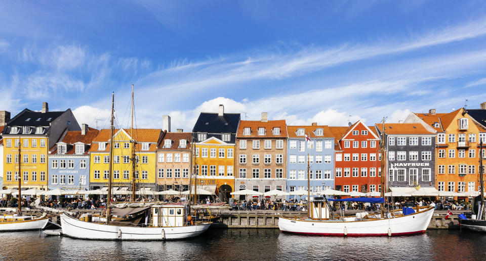 Colorful vibrant houses at Nyhavn harbor in Copenhagen, Denmark. Source: Getty Images
