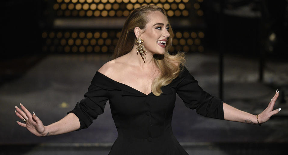 "<a href=""https://uk.news.yahoo.com/tagged/adele/"" data-ylk=""slk:Adele"" class=""link rapid-noclick-resp"">Adele</a> popped back into the spotlight several times this year thanks to a few social media posts showing off<a href=""https://uk.news.yahoo.com/adele-32nd-birthday-photo-073957738.html"" data-ylk=""slk:her new look;outcm:mb_qualified_link;_E:mb_qualified_link;ct:story;"" class=""link rapid-noclick-resp yahoo-link""> her new look</a> and a <em>Saturday Night Live</em> <a href=""https://uk.news.yahoo.com/adele-jokes-about-weightloss-snl-080558528.html"" data-ylk=""slk:hosting gig;outcm:mb_qualified_link;_E:mb_qualified_link;ct:story;"" class=""link rapid-noclick-resp yahoo-link"">hosting gig</a>. There were also whispers of an album set for release this year, however, it looks as though that will come in 2021. (Photo by: Will Heath/NBC/NBCU Photo Bank via Getty Images)"