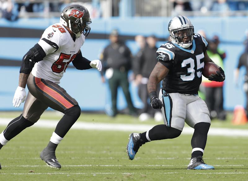 FB Tolbert's versatility paying off for Panthers