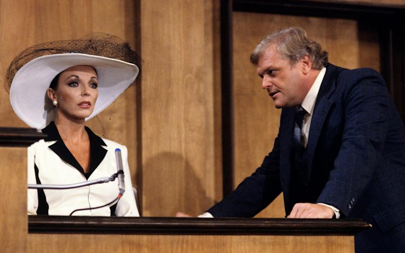 With Joan Collins in Dynasty - Walt Disney Television via Getty Images