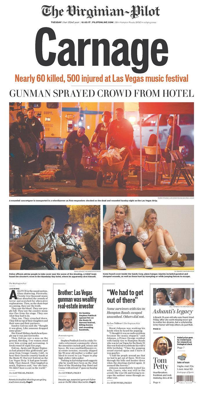 """<p>""""The Virginian-Pilot,"""" published in Norfolk, Va. (newseum.org) </p>"""