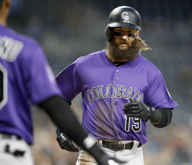 Charlie Blackmon signed a contract extension with the Colorado Rockies that guarantees him $108 million over the next six seasons. (AP)