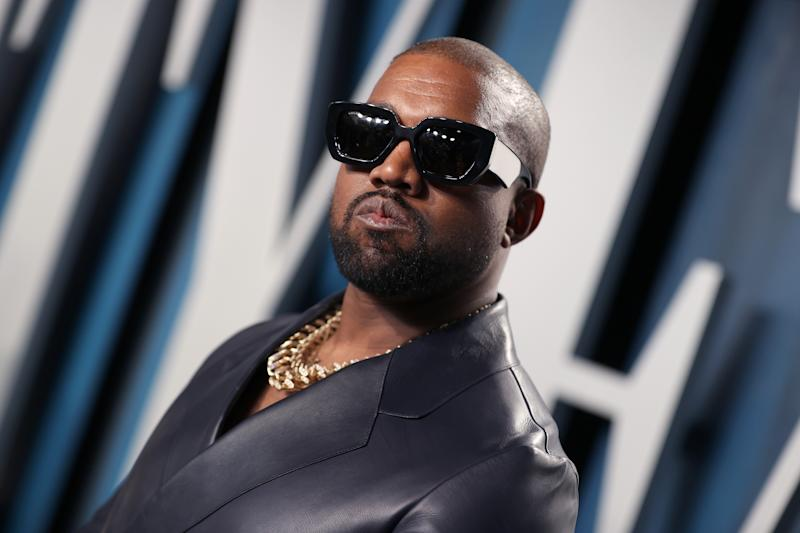 Kanye West attends the 2020 Vanity Fair Oscar Party hosted by Radhika Jones at Wallis Annenberg Center for the Performing Arts on February 09, 2020 in Beverly Hills, California. (Photo by Rich Fury/VF20/Getty Images for Vanity Fair)