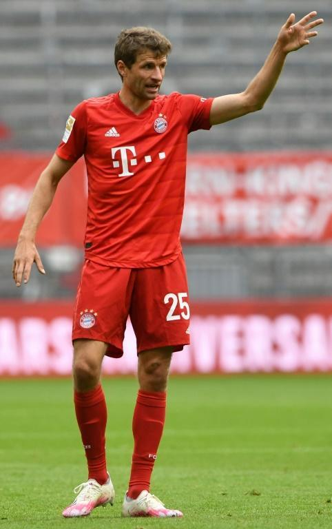Thomas Mueller has rediscovered his best form for Bayern this season (AFP Photo/Christof STACHE)