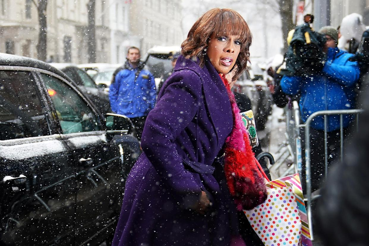 TV Host Gayle King arrives at a hotel for what local media are reporting as a baby shower for Meghan, Duchess of Sussex in the Manhattan borough of New York City, New York, U.S., February 20, 2019. REUTERS/Carlo Allegri
