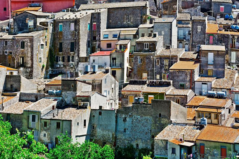 View to Historic Center City of Mussomeli in Sicily (Photo: gkuna via Getty Images)