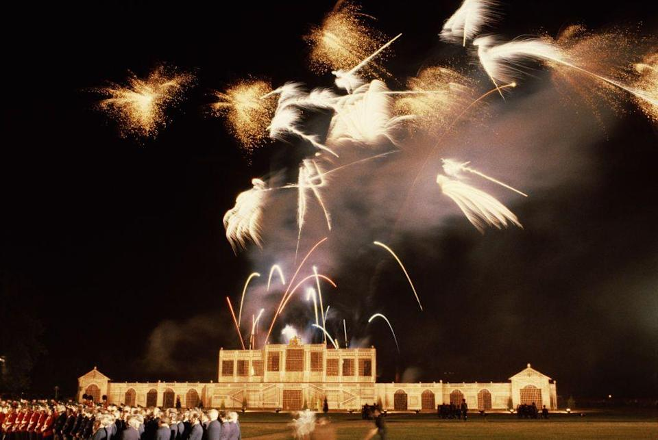 <p>A firework display took place over London on the eve of Charles and Diana's wedding on July 28, 1981.</p>