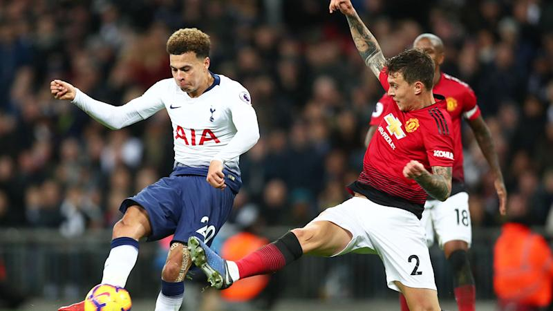 Seen here, Dele Alli in action against Manchester United.