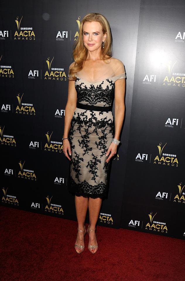 WEST HOLLYWOOD, CA - JANUARY 27:  Actress Nicole Kidman arrives at the Australian Academy Of Cinema And Television Arts' 1st Annual Awards at Soho House on January 27, 2012 in West Hollywood, California.  (Photo by Frazer Harrison/Getty Images)