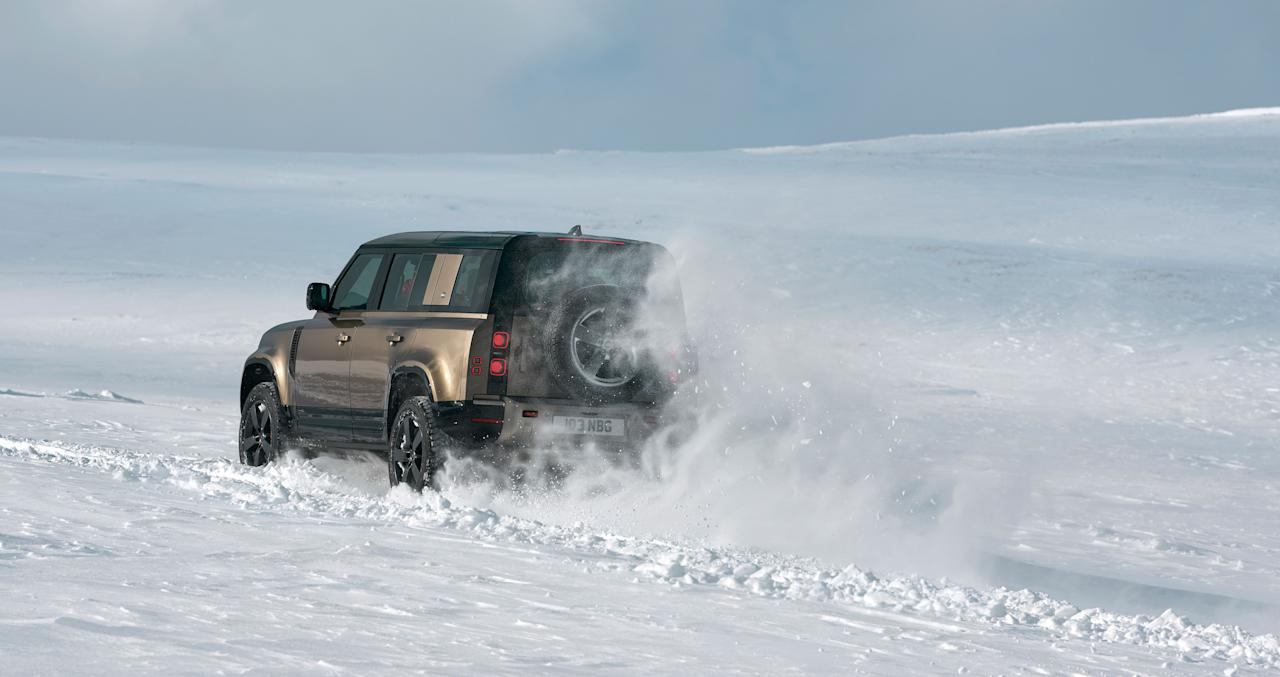 """<p><a href=""""https://www.caranddriver.com/land-rover/defender"""" target=""""_blank"""">Land Rover's Defender</a> has an impressive reputation as one of the most rugged SUVs around, and now a <a href=""""https://www.caranddriver.com/news/a28926461/2020-land-rover-defender-photos-info/"""" target=""""_blank"""">new 2020 model</a> has arrived and will be sold in the U.S. for the first time since 1997. It's quite different in construction to its predecessor, as it's unibody rather than body-on-frame, but it claims an impressive amount of off-road capability and retains certain classic Defender traits. As before, there will be two-door and four-door models offered, labeled 90 and 110. Click through the gallery to see the new Defender inside and out.</p>"""