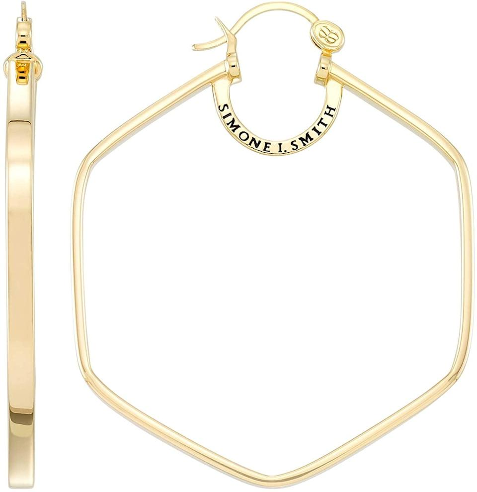 <p>These <span>Simon I. Smith Honeycomb Hoops</span> ($130) are stunning staples.</p>