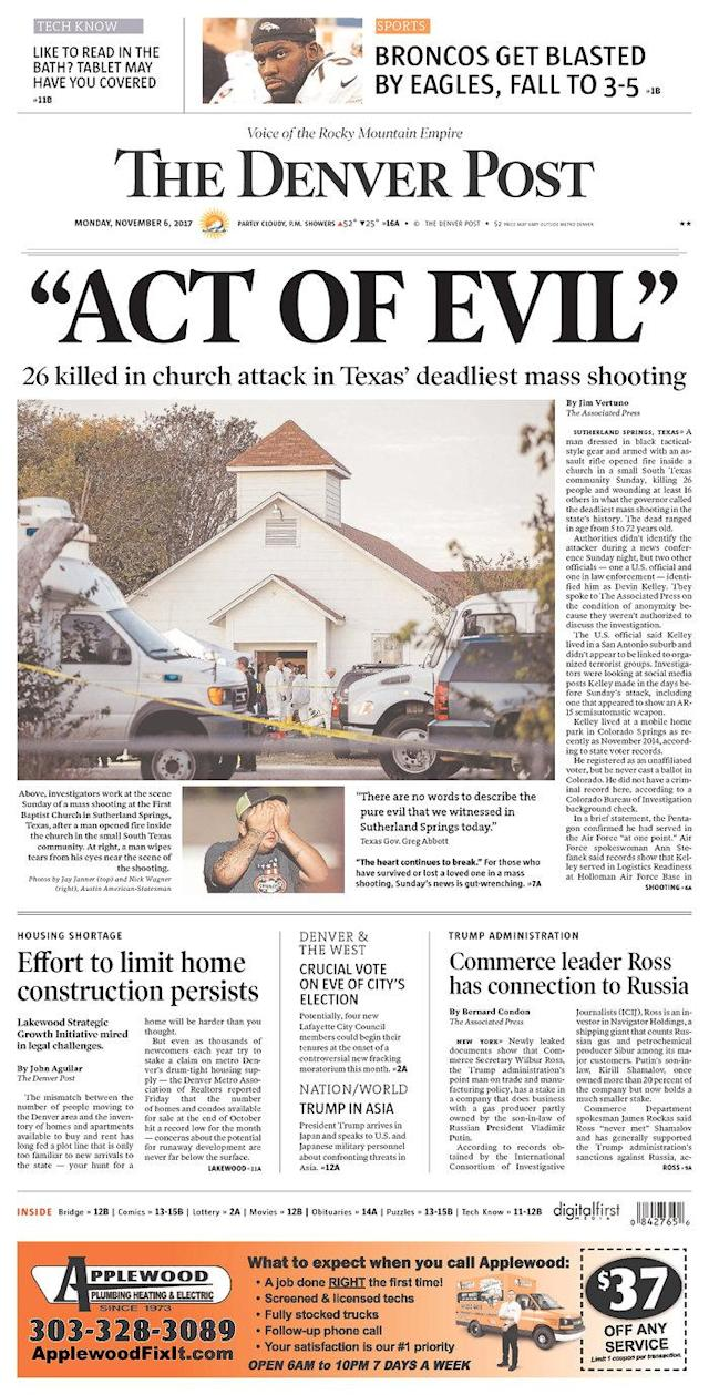 <p>THE DENVER POST<br> Published in Denver, Colo. USA. (newseum.org) </p>