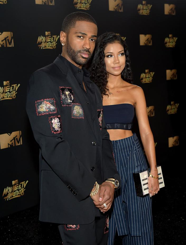 Rapper Big Sean and singer Jhene Aiko attend the 2017 MTV Movie And TV Awards at The Shrine Auditorium on May 7, 2017 in Los Angeles, California.