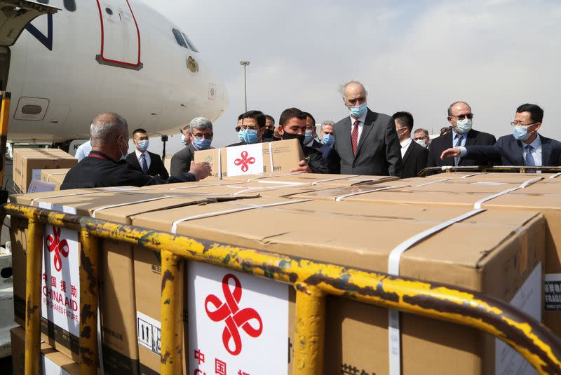 A batch of China's Sinopharm COVID-19 vaccine arrives in Damascus