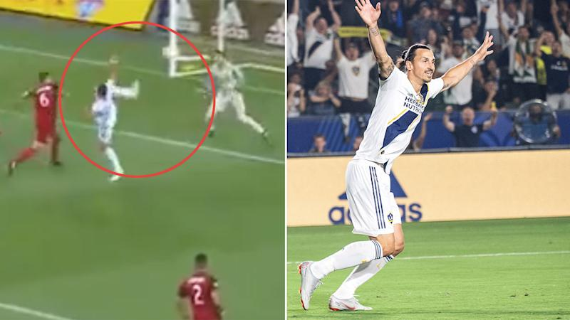 Zlatan Ibrahimovic mocks his manager's own son after scoring 500th career goal