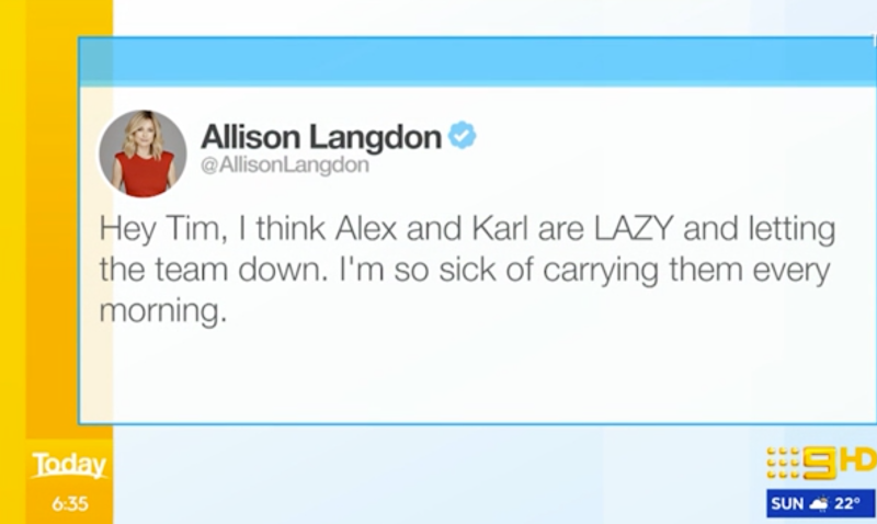 today show ally langdon mean tweet