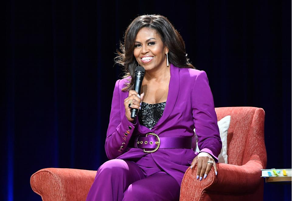 Michelle Obama revealed the songs that get her going in the gym. (Photo: Paras Griffin/Getty Images)