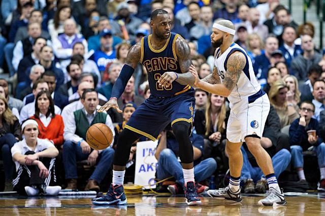 "<a class=""link rapid-noclick-resp"" href=""/nba/players/3929/"" data-ylk=""slk:Deron Williams"">Deron Williams</a> might not have to guard LeBron James anymore, which is a nice perk. (Getty Images)"