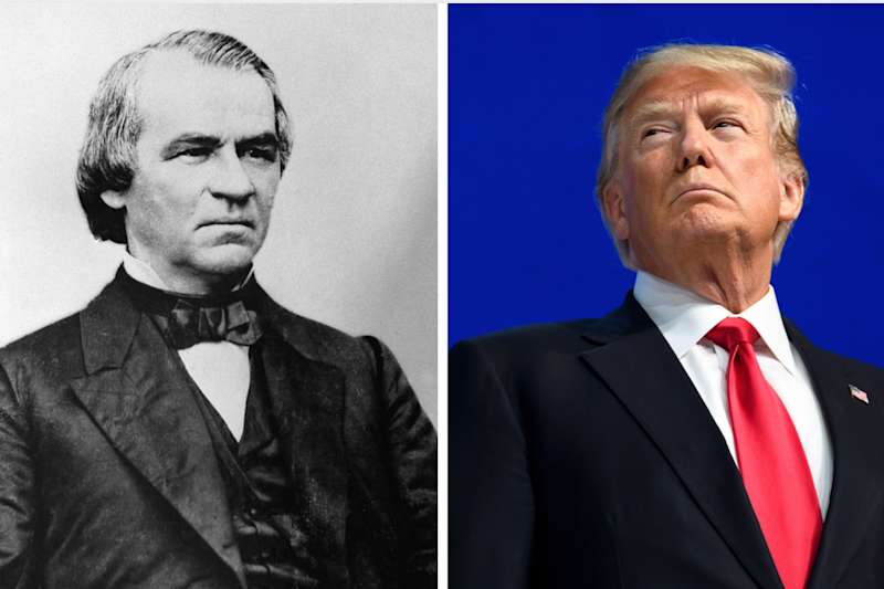 Andrew Johnson and Donald Trump: Getty