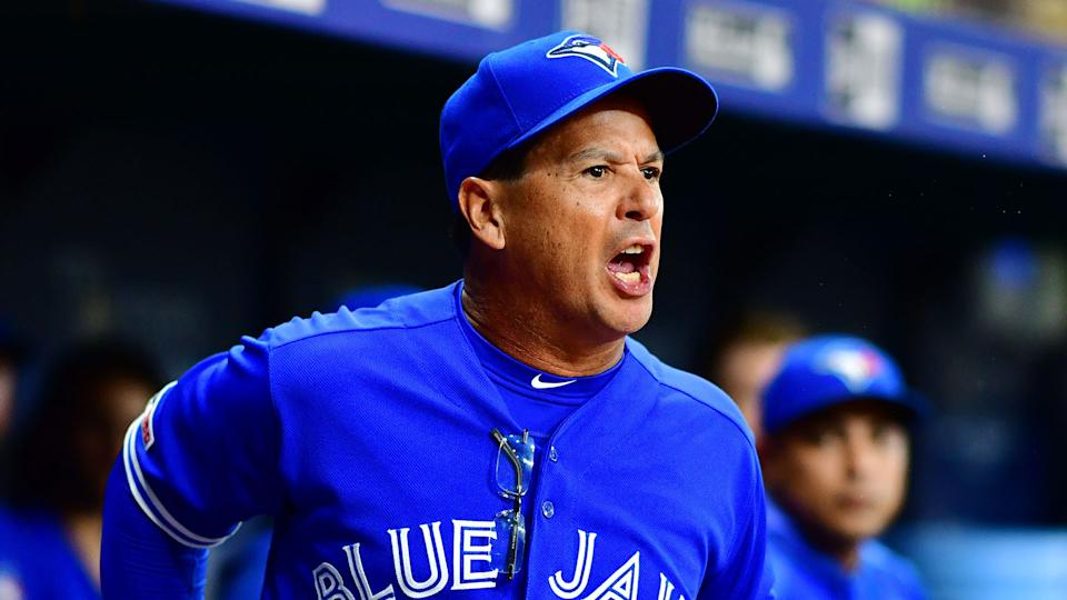 Manager Charlie Montoyo has not been satisfied with the bullpen lately. (Photo by Julio Aguilar/Getty Images)