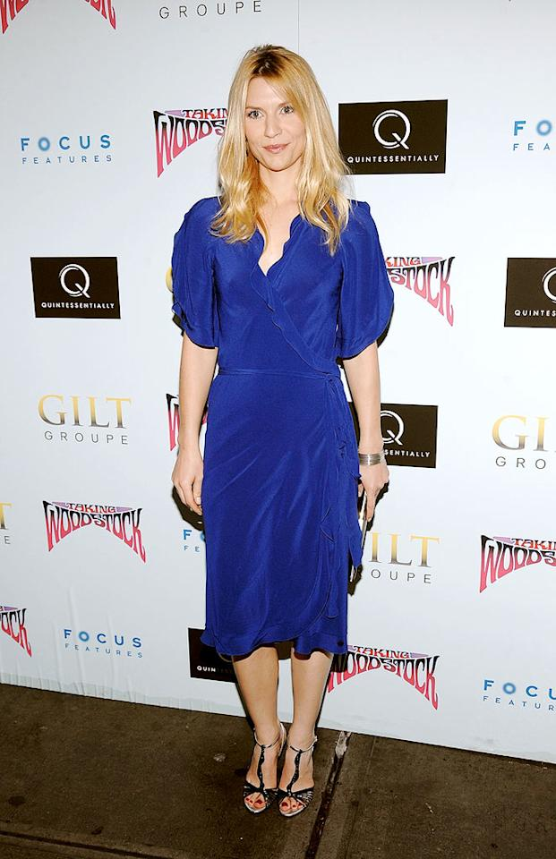 "Thanks to the blue silk Sonia Rykiel Resort 2010 wrap-dress she sported to a screening of ""Taking Woodstock,"" Claire Danes easily earned herself a spot in this week's gallery. Jamie McCarthy/<a href=""http://www.wireimage.com"" target=""new"">WireImage.com</a> - July 28, 2009"