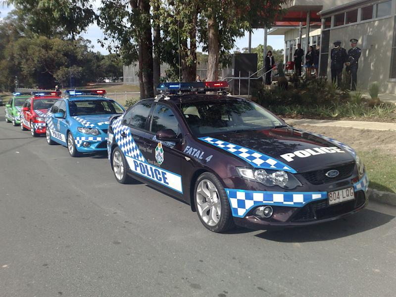 Queensland Police vehicles pictured in Brisbane.