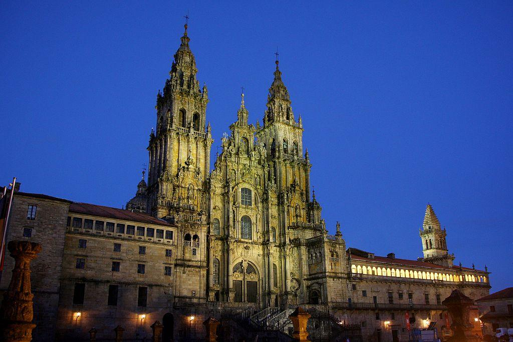The Cathedral of Santiago De Compostela in Santiago De Compostela, Spain.