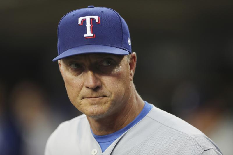 Rangers Fire Manager Jeff Banister