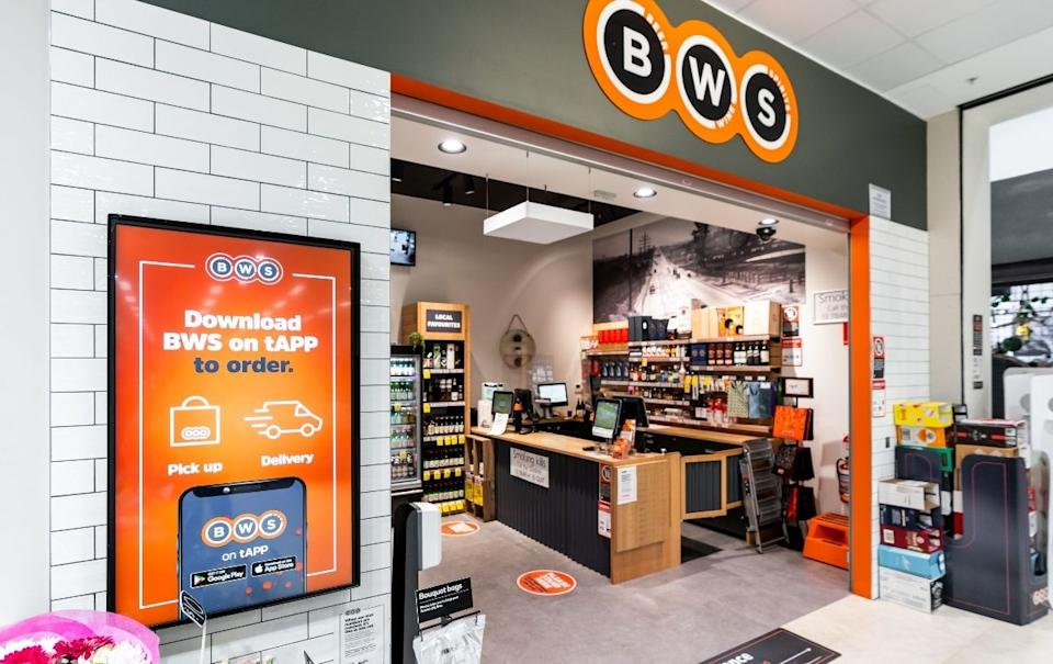 BWS store front. Source: Getty