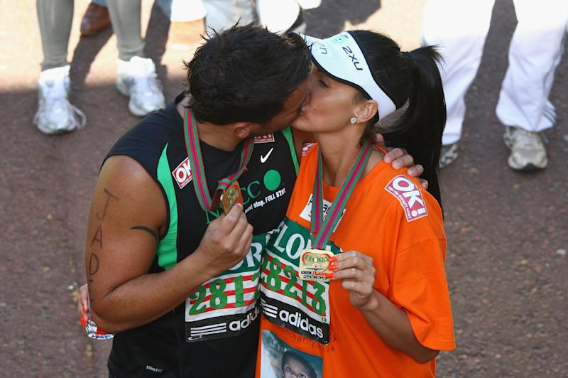 The pair even ran the London Marathon together in April 2009, but just weeks after this totally sincere and not-at-all-staged photo was taken, the couple announced they were splitting up.