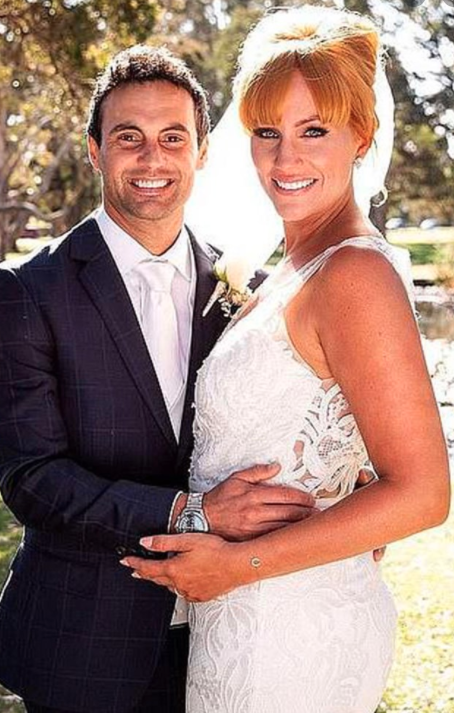 Jules and Cam met on Married At First Sight in 2018 wearing their wedding day clothes