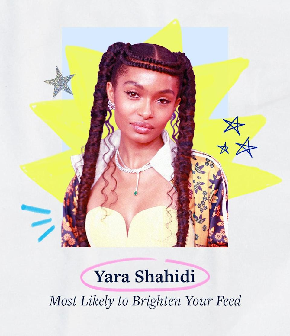 """<p><a class=""""link rapid-noclick-resp"""" href=""""https://www.popsugar.co.uk/Yara-Shahidi"""" rel=""""nofollow noopener"""" target=""""_blank"""" data-ylk=""""slk:Yara Shahidi"""">Yara Shahidi</a> spent the summer <a href=""""https://www.popsugar.com/fashion/yara-shahidi-pink-swimsuit-grown-ish-season-4-48395256"""" class=""""link rapid-noclick-resp"""" rel=""""nofollow noopener"""" target=""""_blank"""" data-ylk=""""slk:promoting her new season of Grown-ish"""">promoting her new season of <strong>Grown-ish</strong></a> and rocking her <a href=""""https://www.popsugar.com/fashion/yara-shahidi-adidas-collaboration-48305768"""" class=""""link rapid-noclick-resp"""" rel=""""nofollow noopener"""" target=""""_blank"""" data-ylk=""""slk:colorful Adidas collab"""">colorful Adidas collab</a> all around town. She also became Dior's global ambassador and did it all in a rainbow's worth of outfits styled by longtime stylist Jason Bolden.</p>"""