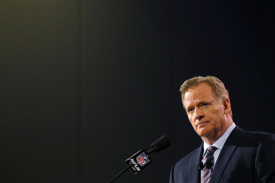 The last few days are much bigger than Roger Goodell. (REUTERS/Brian Snyder)